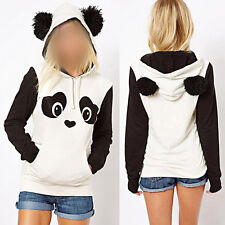 Cute Women Panda Pullover Hoodie Sweatshirt Sweater Jumper Plus Size Blouse Top