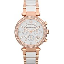 NEW GENUINE MICHAEL KORS MK5774 PARKER 39MM WHITE DIAL ROSE GOLD LADIES WATCH UK