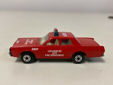 Matchbox Fire chief 1 Los Angeles city department mercury Lesney England