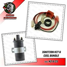 Powerspark Electronic ignition kit + Sports coil for Lucas 25D + 23D distributor