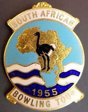 Vintage South African Bowling Tour 1955 Enamel Pin Badge, By Miller