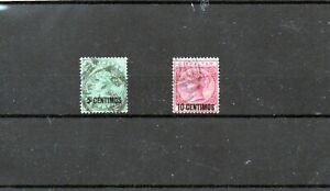 GIBRALTAR 1889 5c & 10c Good Used. SG 15 & 16.