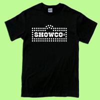 Showco Sound Distress Logo Men's T-Shirt Black White S-2XL