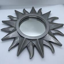 Silver Sun Wall Mirror 11x11