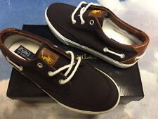 Polo Ralph Lauren Vance Navy Canvas Lace Sneaker Kid Size 2.5