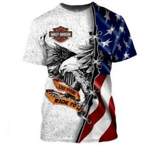 Motorrad Motor Motorrad Harley Davidson Motiv Streetwear T-Shirt Shirt Polyester