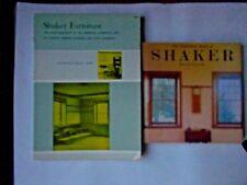 Lot of 2 books on Shaker Furniture by Edward Deming David Larkin