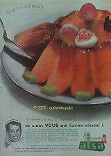 PUBLICITE ALSA LEVURE ALSACIENNE FLAN GATEAUX DE 1960 FRENCH AD PUB VINTAGE