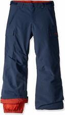Burton Boys' Exile Cargo Snow Pant - Navy / Rust - Size Medium