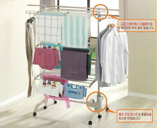 Multi-Purpose Laundry Hanger 3 Tiers Clothes Horse 30 Kg(66 lbs) Stainless Steel