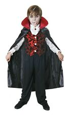 BOYS Junior VAMPIRE DRACULA FANCY DRESS COSTUME HALLOWEEN OUTFIT age 10-12yrs UK