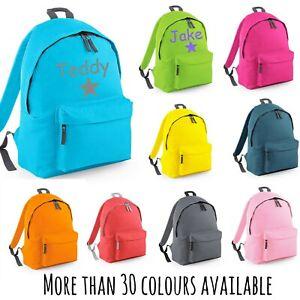 Personalised School Backpack Kids Rucksack Named Girls Boys