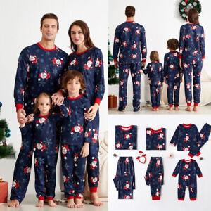 Christmas Pyjamas Women Men Kids Xmas Family Matching Nightwear PJs Sets Gifts