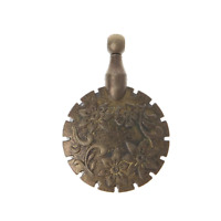 Vintage Style Antique Bronze Yarn Sewing Thread Cutter Pendant - UK Stock