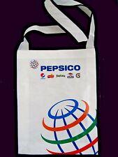 "New 2013 PEPSICO Tote Shopping Beach Grocery Bag Plasticized Eco 3 x 11 x 14½"""