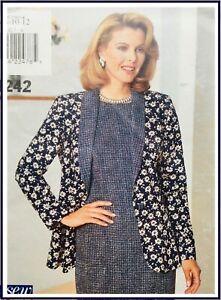 LADIES LOOSE FIT DRESS & JACKET Sewing Pattern SIZE 10/12 (B4242)