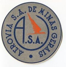 Early Aerovia S.A. De Minas Gerais A.S.A  Airline Luggage Label