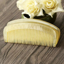 1 Pcs 10cm Handmade Natural Sheep Horn Comb Massage Wide Tooth Anti-static Combs