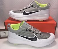 $120 NIKE MENS SIZE 8.5 FI PREMIER GOLF SHOES BLACK SILVER WHITE VOLT RORY NEW