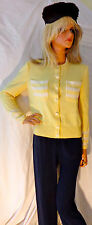 $895 Classic ST JOHN Santana Knit Jacket Elegant Perfect Fit 8 Lemon Cream as is