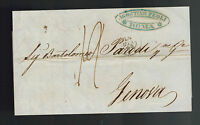 1848 Rome Italy Stampless Letter Cover to Genova