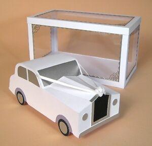 A4 Card Making Templates - 3D Wedding Car.