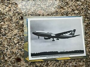 Air Siam Airlines Airbus A-300 landing at airport airline issued postcard