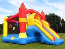 BeBop Ultimate Combo Large Kids Garden Bouncy Castle and Slide