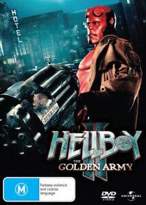 HELLBOY 2 II The Golden Army DVD_Guillermo del Toro_Ron Perlman - Ex Rental