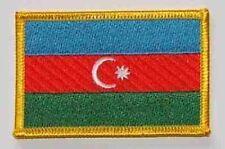 Aufnäher Aserbaidschan Fahne Flagge Aufbügler Patch 8 x 5 cm