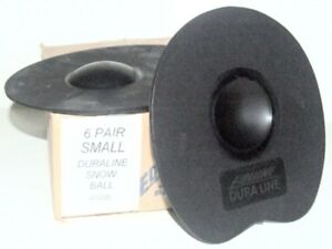 Snowball Horse Hoof Pad, Six Pair in Box New, Sm Size, Equine Duraline, Black