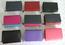 Leather Medium Tri Fold Wallet Purse by Golunski  *  Various colours & RFID