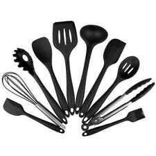 10Pcs Heat Resistant Silicone Cookware Set Non-Stick Cooking Tools Kitchen Kit