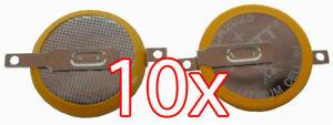 10 X CR2025 3V Batterie mit Lötfahnen Knopfzelle Tabs Gameboy Spiele Pokemon usw