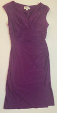 Womens Kasper Solid Purple Casual Dress Size 10