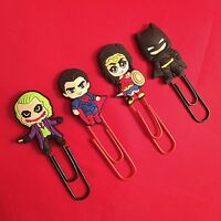 Superhero Cartoon Lego Plastic Bookmark DC Marvel Batman Joker Superman *NEW*