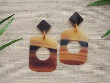 Natural Buffalo Horn Material Earrings Large Jewelry