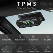 Solar Wireless TPMS Car Tire Pressure Monitoring System +4 Sensors on Windshield