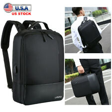 Premium Anti-theft Laptop Men Notebook Backpack USB Charger Business School Bag