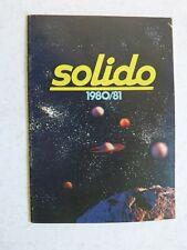 catalogue  SOLIDO 1980 / 1981