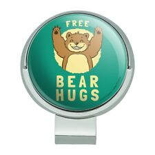 70246821303 Free Bear Hugs Funny Humor Golf Hat Clip With Magnetic Ball Marker