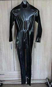 Latex Catsuit Gr. S schwarz für Damen