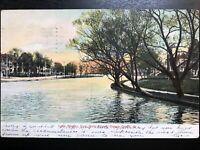 Vintage Postcard>1907>Lake Wesley>Main Street>Ocean Grove>New Jersey