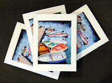Rainbow of Boats - Note Cards