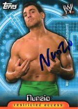WWE signé trading card Nunzio Lutte WWF SMACKDOWN TNA F.B.I ECW