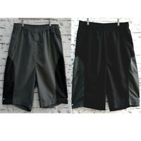 Big Adult Mens Board Summer Beach Shorts Microfibre 100% Polyester Coal Black