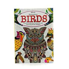 Adult Colouring Therapy Anti-Stress Adult Colouring Book Relax Mind Birds