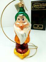 BASHFUL Radko Disney Vintage 1997 Snow White and the Seven Dwarfs Ornament w/Box