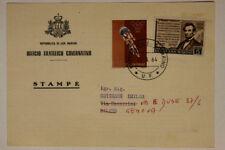 Storia Postale San Marino 5 - 10 Lire 1964 da Ufficio Filatelico a Genova #SP163