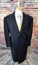 Hunt Club Clothiers 44R Men Charcoal Grey 3 Button 100% CASHMERE Overcoat Jacket